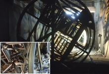 Подготовка поверхности и АКЗ шахтной лестницы и системы пенотушения РВС-5000