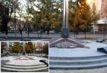 Очистка памятника сотрудникам МВД